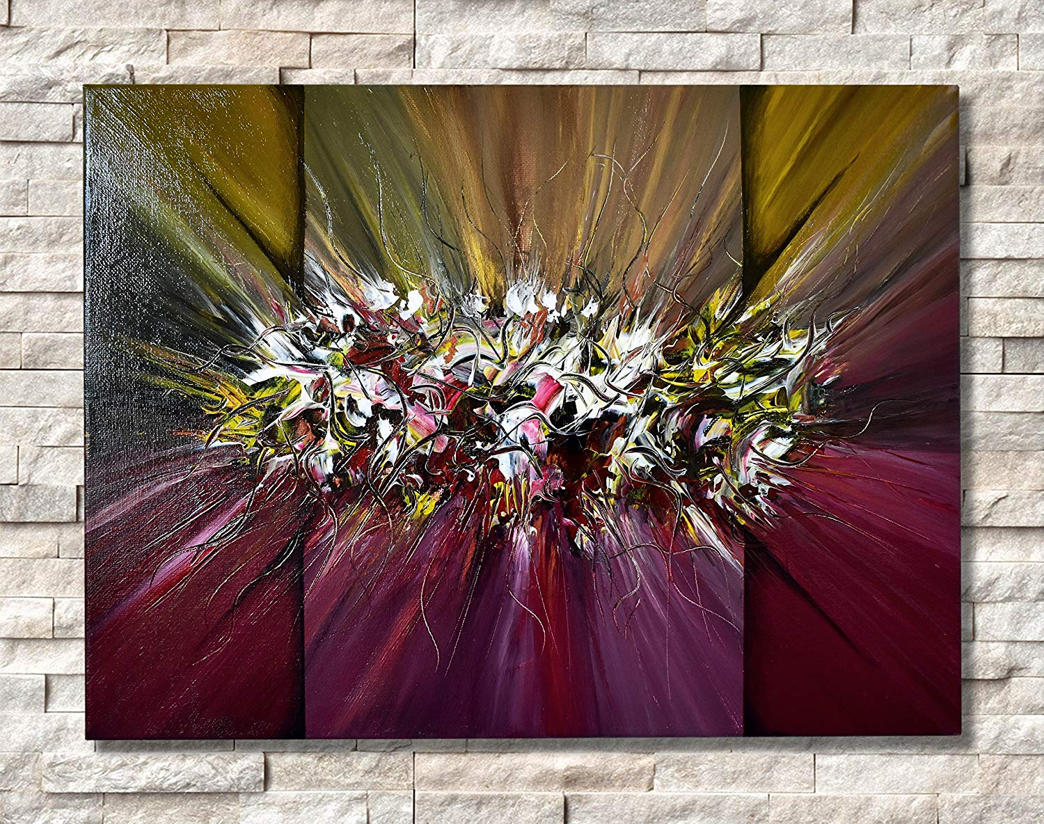 Acrylic Abstract painting on Canvas 12x16 in, Handmade painting, Resin Modern Art