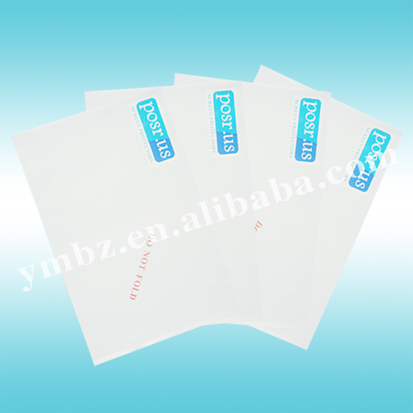 Document enclosed self adhesive plastic pockets / bags