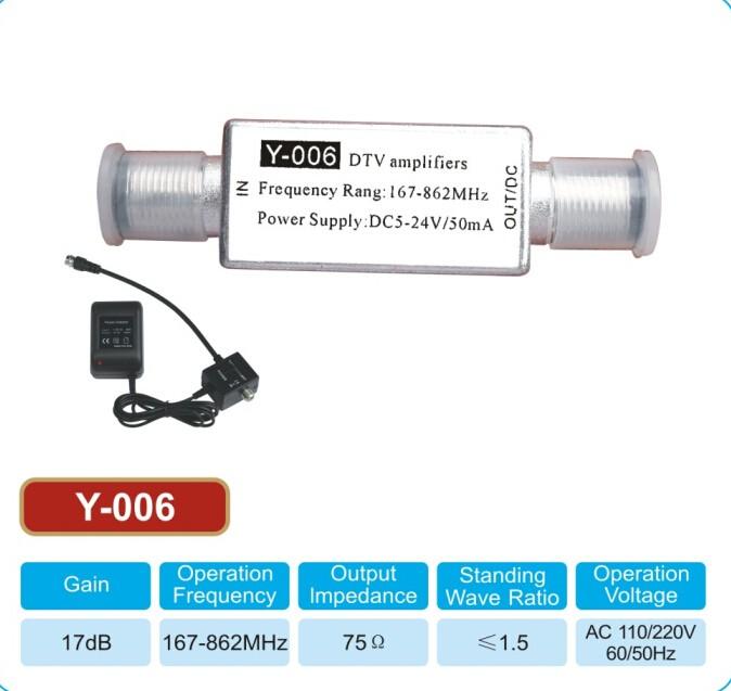 tv antenna booster. antenna preamplifier y-006 - digital tv signal booster tv d