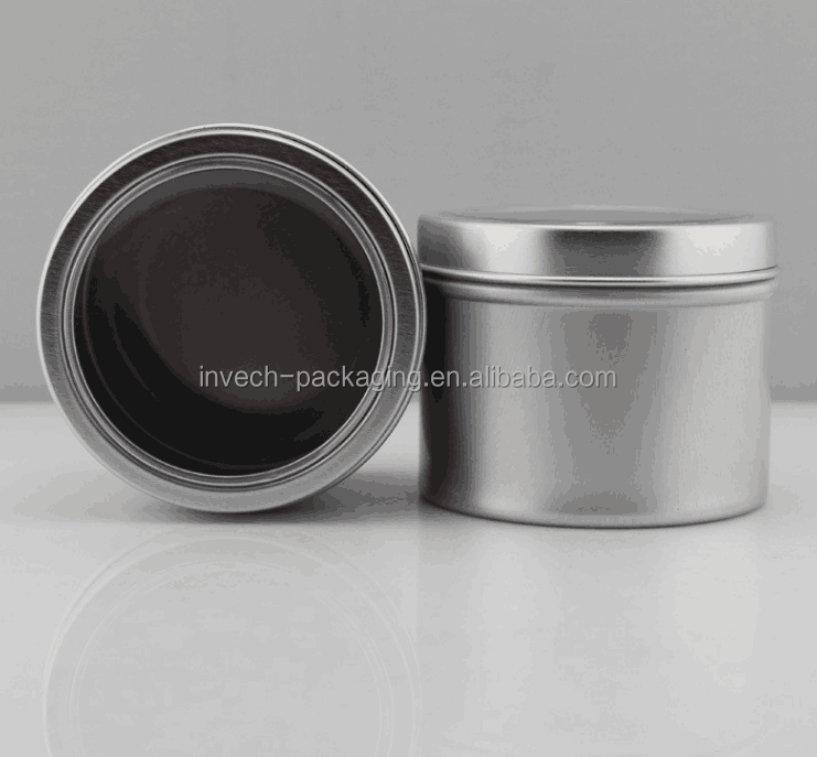 100g aluminum tin jar with clear window cap,matte black tin cans candy storage tin container
