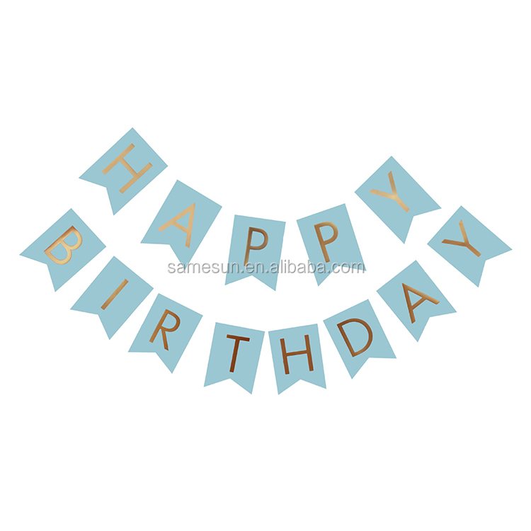 meilun art crafts happy birthday letter paper banner for girls party