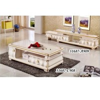 MODERN DESIGN MARBLE TOP GLASS TOP TV STAND 31687-A909