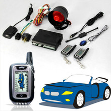 new technical remote car starter LCD display car alarm /lcd auto start car alarm system