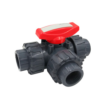 Hot Sale PN63 DN15 Plastic 3way 3 Way Ball Valve PVC