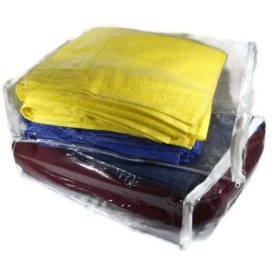 Clear Zippered Blanket Storage Bags - 15x18x4 Inch, Set of 5, For Blankets, Sweaters, Clothes and More, Heavy Duty Vinyl