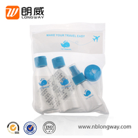 made in china 4pcs small face cream lotion plastic spray cap bottles cosmetic travel set
