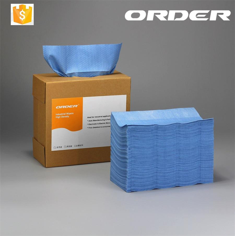 Most valuable 70% wood pulp+30% polypropylene disposable industrial wiping cloth from China