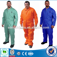 High-visibility Construction Coverall, Flame Resistant Safety Workwear Uniform