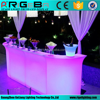 RGB Color Led Light Up Bar Table Counter Used For DJ Nightclub Wedding Party