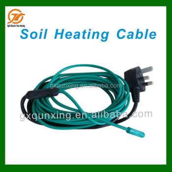 Electric underfloor heating cable for greenhouse soil for Soil warming cable