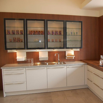 4 Layers Metal Frame Kitchen Cabinet With Glass Door Buy Kitchen