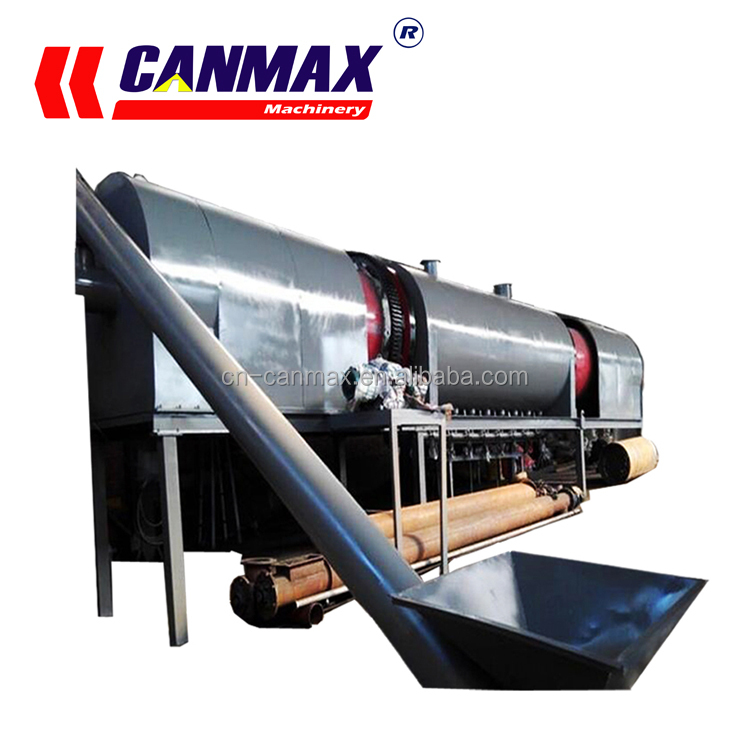 2%-13% Volatile Content coconut shell charcoal making process, palm kernel shells charcoal making machine