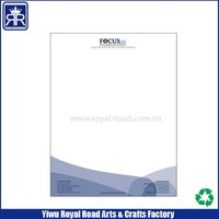Offset Printing Custom made 70gsm paper A5 company letter head with you logo