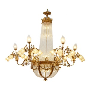 Modern Luxury LED Light Source Crystal Pendant Lights K9 Crystal Chandelier for Living Room
