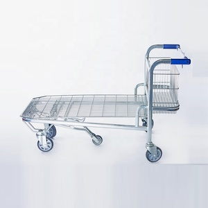 2019 Platform high quality foldable cargo trolley shopping cart with strong frame