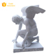Gravestone Male Marble White Angel Statue (YL-R149)