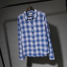 e8a2b1d842b Эко-вискоза фланель рубашка в клетку с длинными рукавами