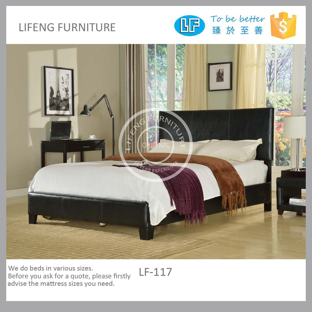 China wholesale synthetic leather design bed,sample modern bedroom furniture,LF-117
