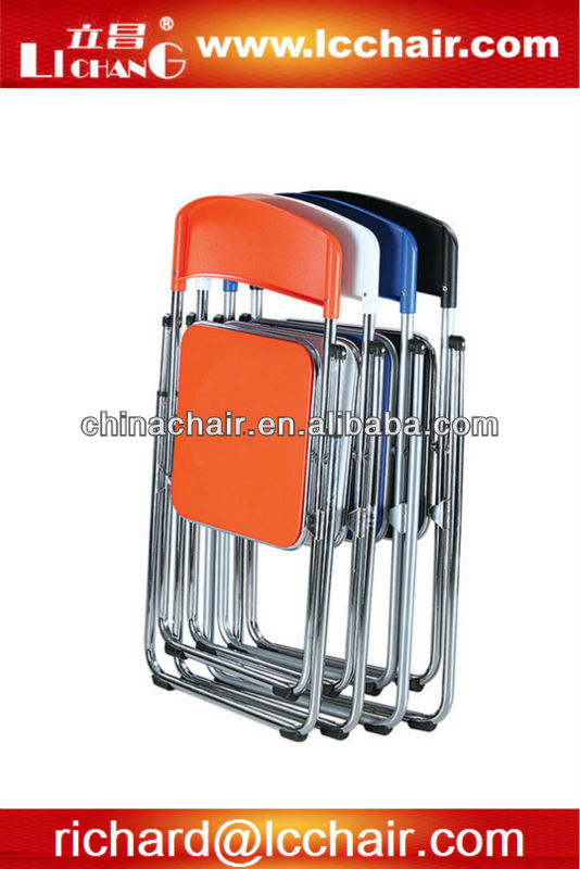 Foldable outdoor park event/wedding party metal plastic chair for hire business