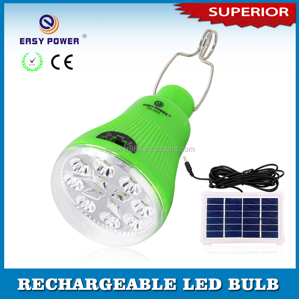 Competitive Price LED Emergency Hanging Solar power charging Lamp Light bulb