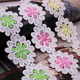 custom two tone color flower guipure embroidery lace trim for garment