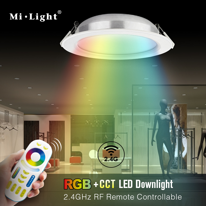 Mi.light 2.4G RF remote control wireless remote control adjustment dimmer 12w rgbw led downlight