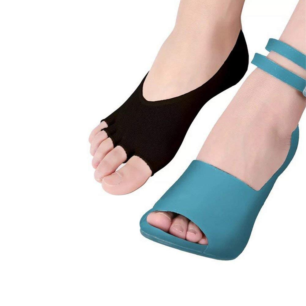 Pair Of Ladies Girls Shoe Liners Lace Footsies Nude Invisible Sock Grip Pads 4-7