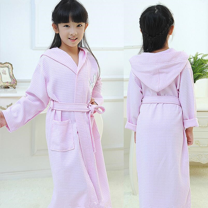 417380624d Wholesale kids spa robes super soft customized cotton hooded bathrobes