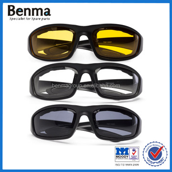 7af1b4aefc Hot Sell 3 Pair Motorcycle Riding Glasses Smoke Transparent Yellow ...
