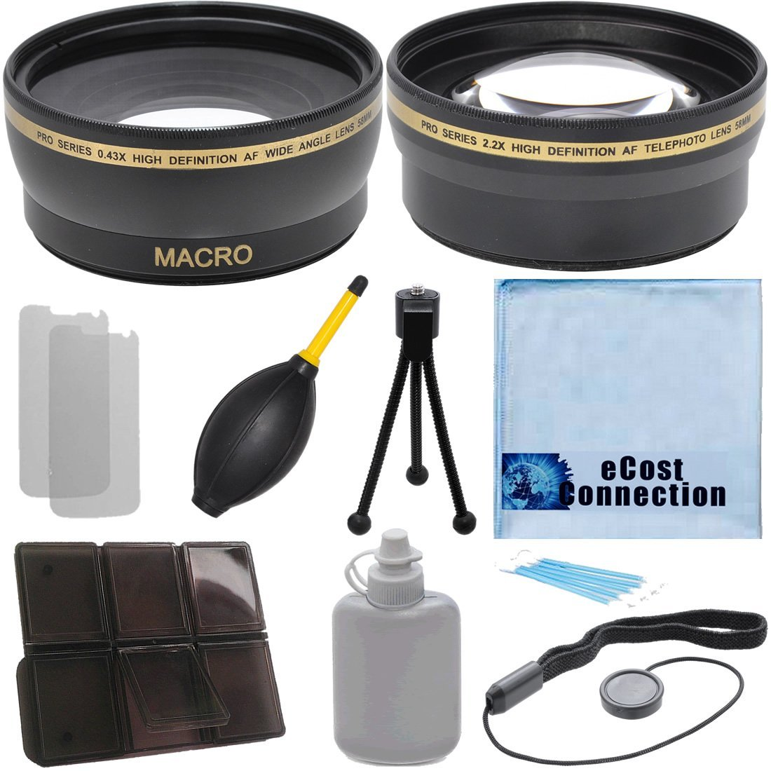 EF 70-300mm f//4-5.6L IS USM Lens EF-S 18-135mm f//3.5-5.6 IS Lens and More Models Vivitar Pro Series 67mm 2.2x High Definition AF Telephoto Lens for Canon EF 100mm f//2.8L Macro IS USM Lens eCost Microfiber Cleaning C 18-135mm f//3.5-5.6 EF-S IS STM Lens