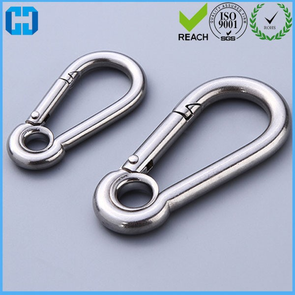 Large Stainless Steel Eye Carabiner Spring Snap Hooks