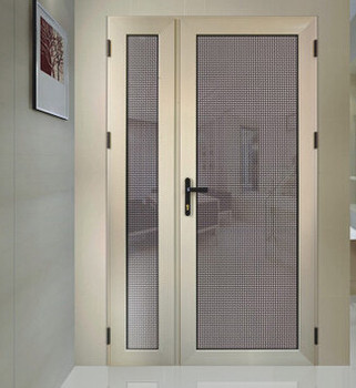 cheaper price one and half door for apartment door with fly net