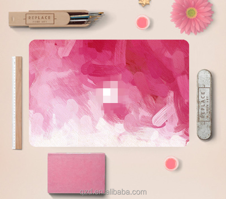 Pink Watercolor Painting High Quality Removable Full Body Decal Laptop Skin for Apple Macbook Pro Air Retina