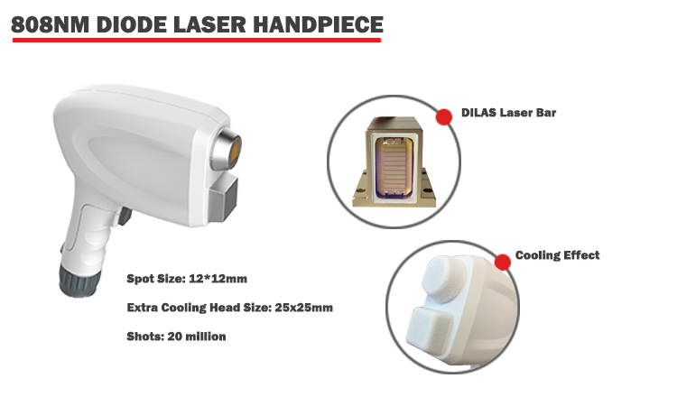 4 in 1 808nm Diode Laser + IPL + Nd Yag Laser + RF Multifunctionele laser schoonheid machine