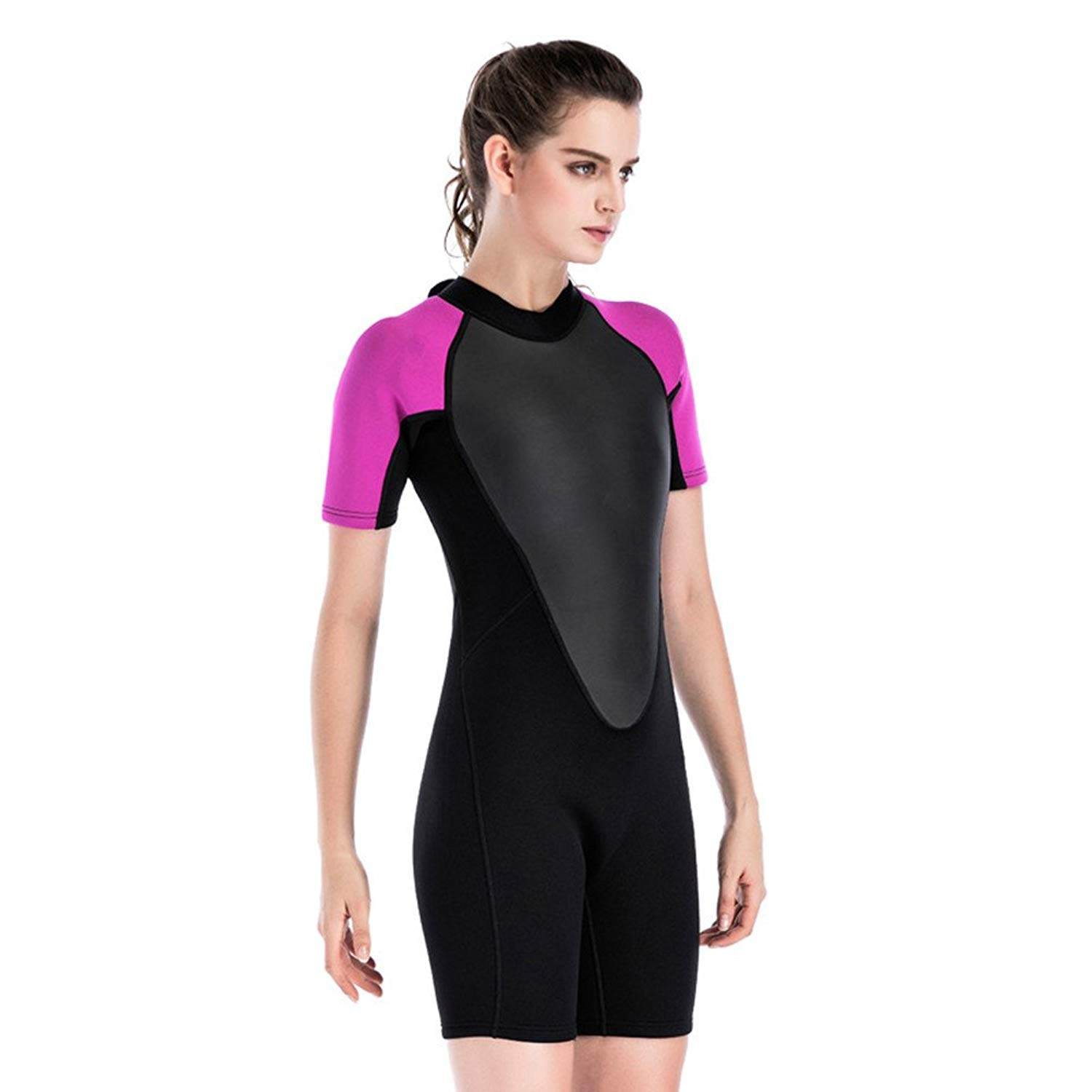 Get Quotations · CaptainSwim Womens One-Piece 2mm Neoprene Wetsuits Modest  Surfing Swimsuit Winter Jellyfish 0d3e901a2