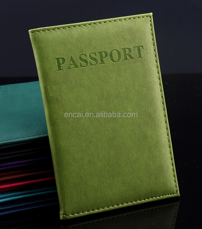 Encai Wholesale Cheap Journey Organizer Passport Cover Passport Book Holder Stocked Tickets Cards Holder