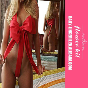 Big Red Bow Sexy Lingerie Set For Women