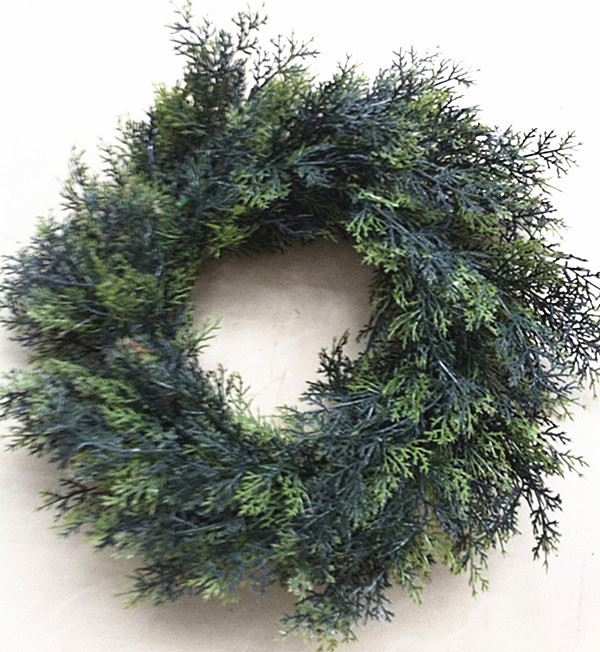 2014 China wholesle artificial green wreath for Christmas decor from Yiwu market
