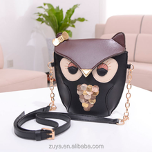 bfca79ecd445 latest college girls shoulder bags pu leather owl fox design shoulder bags  for young girls design side bags for girls