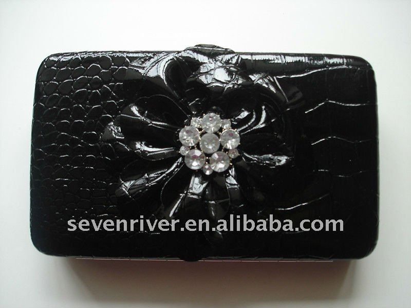 Fashion Metal Frame Ladies Purses With Flower/Clip Lady's Wallets