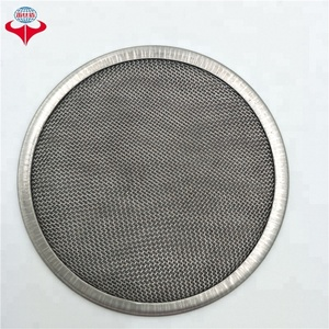 Stainless steel double layer filter usd in oil filtration/round filter wire mesh