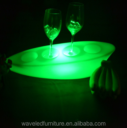 High quality popular plastic led lighting night club led bar wine glass bottle holder
