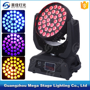 Guangzhou factory hot sale 36led zoom 6in1rgbwauv moving head light