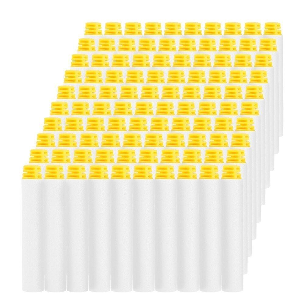 White 100pcs 7.2cm Refill Toy Gun Bullet Darts Foam Bullet Darts For Nerf N-strike Elite Series