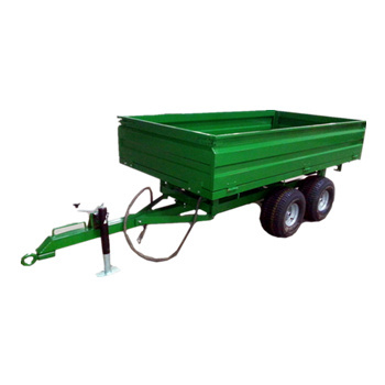 4-wheel farm trailer tow behind Tractors with rear hydraulic dump 2ton 3ton load trailer 2wheel optional