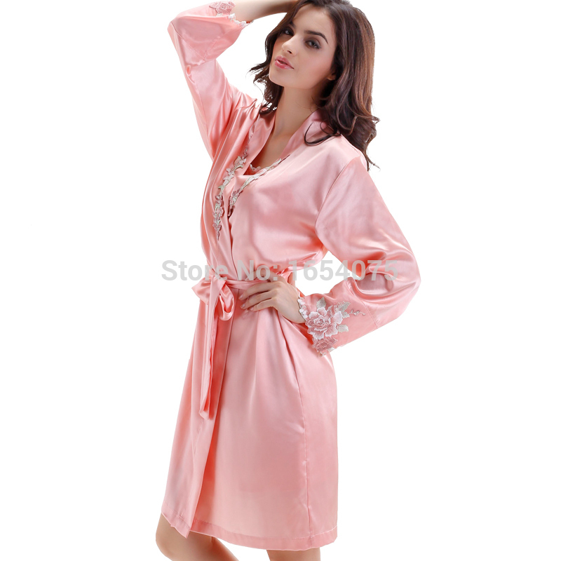 489a46a697 Get Quotations · 2015 Special Offer Real Solid Rayon Pijamas Bathrobe  Pajamas For Women Casual Sleepwear Femme Sexy Long