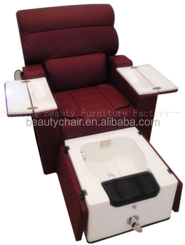 Salon Spa Acrylic Base Foot Massage Pedicure Chair With Sink Tray
