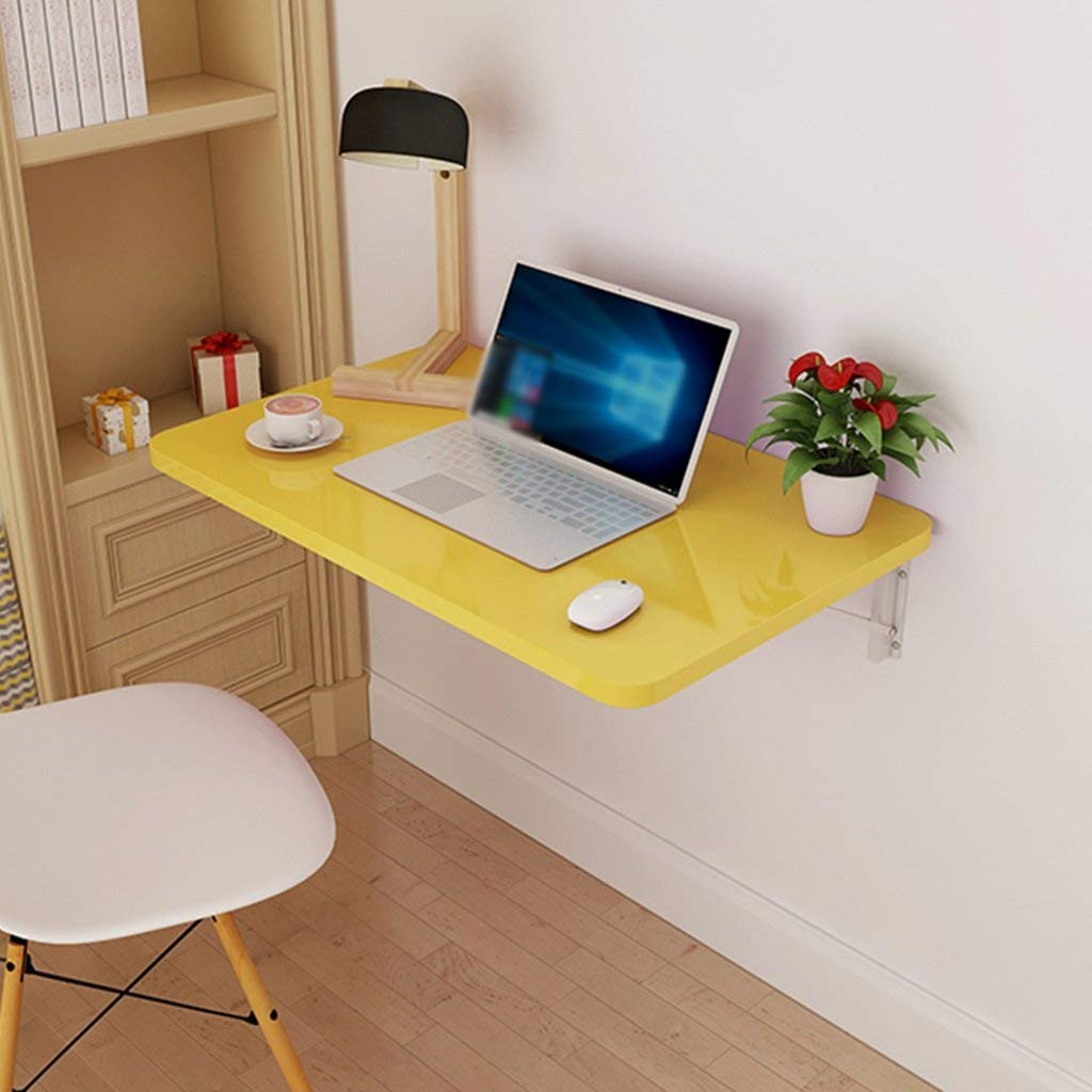 Mmdp Folding Table Dining Table Wall-mounted Computer Desk Side Table Wall Hanging Laptop Table (Size : 70cm40cm)