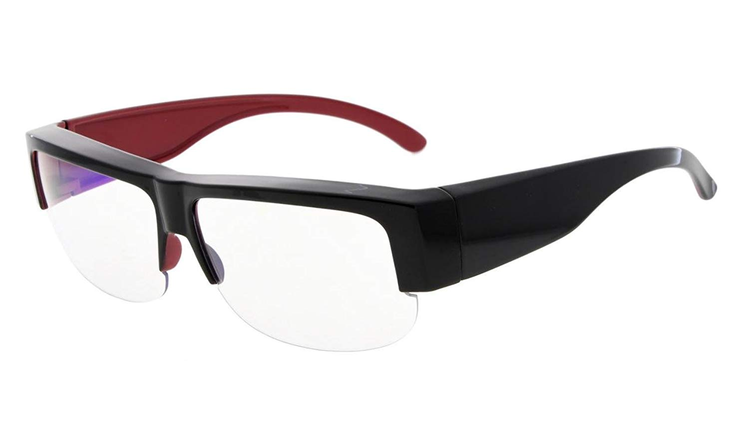 b4736b952c06 Get Quotations · Eyekepper Anti-Blue Light Blocking Computer Glasses,Fit  Over Readers and Prescription Glasses with