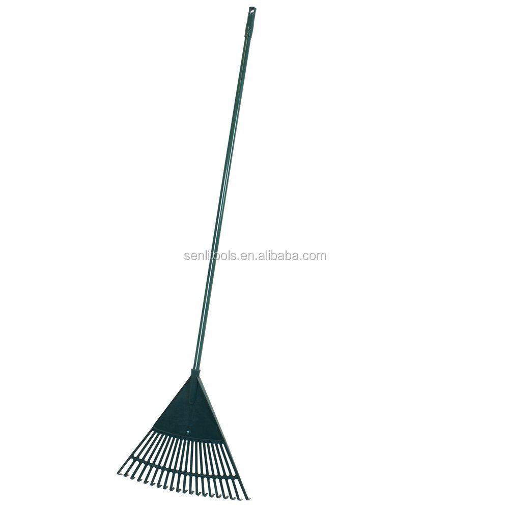 Plastic Green Outdoor Twenty Tooth Garden Lawn Leaf Rake